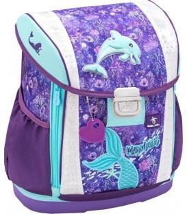 Σχολική Τσάντα BELMIL Customize Mermaid Γοργόνα με Δελφίνι 404-20