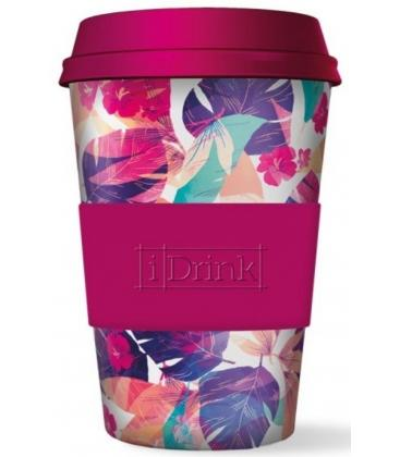 Ποτήρι Bamboo iDrink Flowers 435ml ID0104