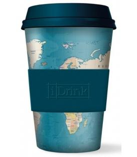 Ποτήρι bamboo iDrink Blue Map 435ml ID0106