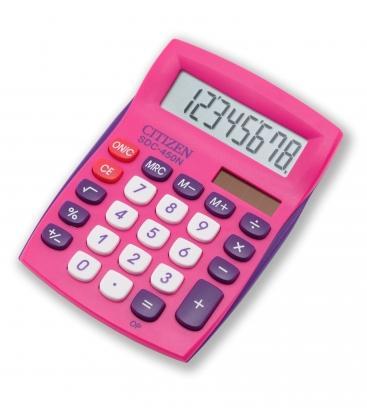 Αριθμομηχανή Citizen SDC450NBL 8 Digit Ροζ Desktop School and Office Calculator With Dual