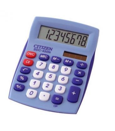Αριθμομηχανή Citizen SDC450NBL 8 Digit Blue Desktop School and Office Calculator With Dual