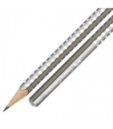 Μολύβι Faber Castell grip sparkle ασημί 118213