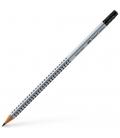 Μολύβι 2HB Faber Castell Grip 2001 με γόμα Grey