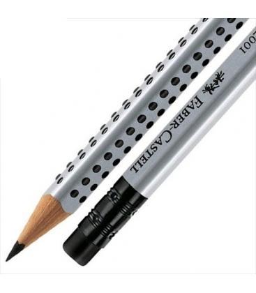 Μολύβι Faber Castell Grip με γόμα 2001 grey 2=HB