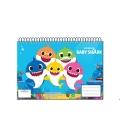 Μπλοκ Ζωγραφικής A4 & Αυτοκόλλητα Baby Shark 334-64416