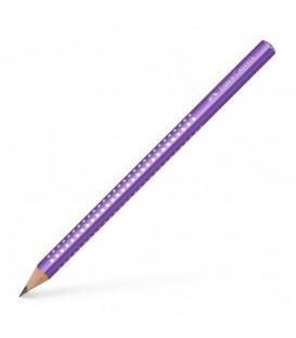 Μολύβι B Faber Castell Grip 2001 Sparkle Pearl Jumbo Βιολετί