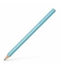 Μολύβι B Faber Castell Grip 2001 Sparkle Pearl Jumbo Τιρκουάζ