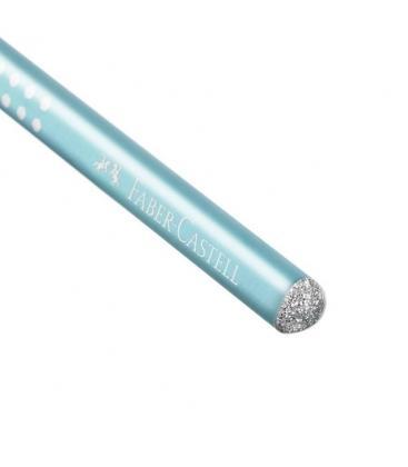 Μολύβι Faber Castell Grip Sparkle Γαλάζιο ανοιχτο