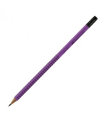 Μολύβι Faber Castell Grip με γόμα 2001 Ροζ