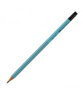 Μολύβι B Faber Castell 217038 Grip 2001 με γόμα σιέλ