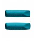 Γόμες Καπάκι Faber Castell Grip σετ 2 τεμάχια Πετρόλ