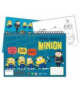 Μπλοκ Ζωγραφικής & Αυτοκόλλητα Minions 345-55416