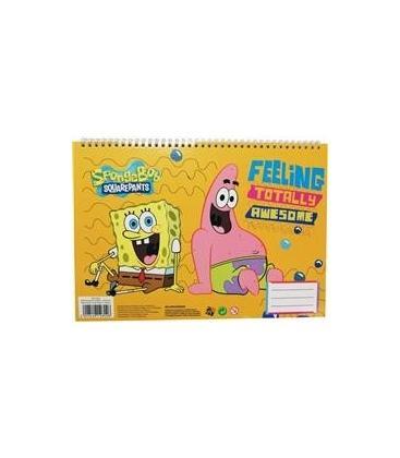 Μπλοκ Ζωγραφικής A4 & Αυτοκόλλητα SpongeBob 336-76416