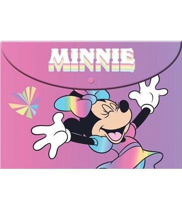 Φάκελος με Κουμπί Α4 PP Gim Minnie 340-48580