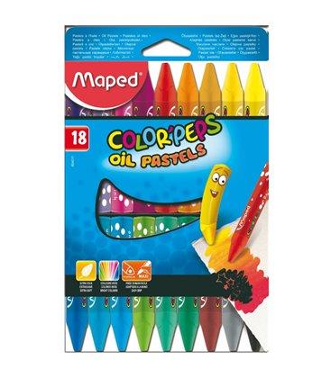 Λαδοπαστέλ 18τ Maped Oil Pastels Color Peps
