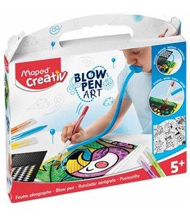 Δημιουργικό Σετ Μαρκαδόρος Αέρος Maped Blow Pen Art 5+