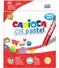 Λαδοπαστέλ Carioca oil-pastel 24τεμ. super soft
