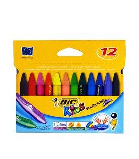 Kηρομπογιές BIC Kids Plastidecor 12 τμχ