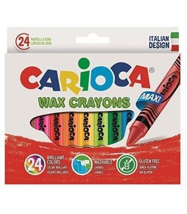 Κηρομπογιές Carioca 24τεμ. jumbo wax