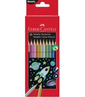 Ξυλομπογές Faber Castell 201583 Metalic color 10μετ.