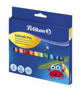 Μαρκαδόροι Pelikan 12τεμ. Χονδροί
