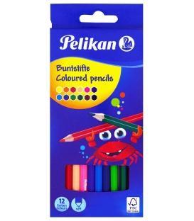 Ξυλομπογιές Pelikan 12 Χρ.