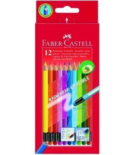 Ξυλομπογιές Faber Castell 12χρ. με Γόμα