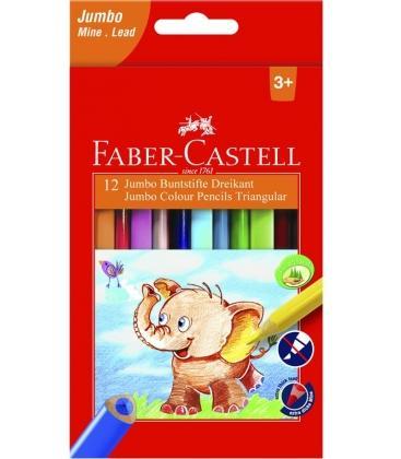 Ξυλομπογιές Faber Castell 12χρ. Jumbo Triangular