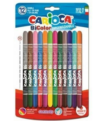 Μαρκαδόροι Carioca 24 χρ. BiColor Superwashable