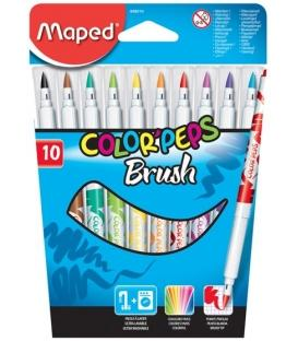 Μαρκαδόροι Maped 10χρ Brush 2.8mm