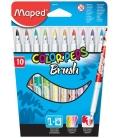 Μαρκαδόροι 10χρ Maped Brush 2.8mm