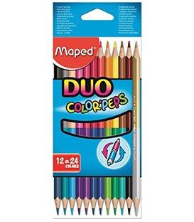 Ξυλομπογιές Maped 24χρ 12τ Color Peps DUO