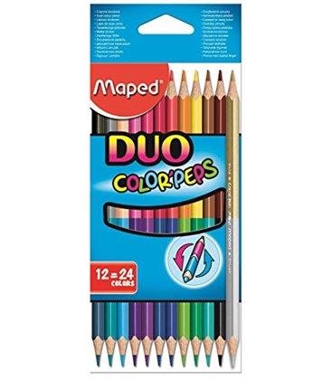 Ξυλομπογιές Maped 24χρ. 12τ Color Peps DUO