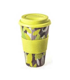 Ποτήρι Bamboo Statova Eco 435ml Κιτρινα Λουλούδια