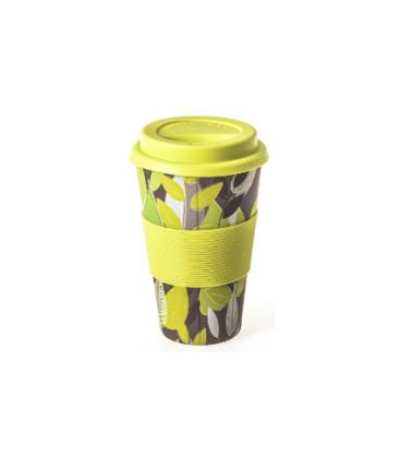 Ποτήρι Bamboo Statova Eco 435ml 705461 Κιτρινα Λουλούδια