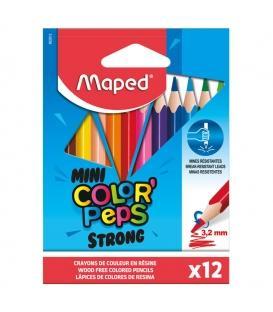 Ξυλομπογιές Maped 12χρ Μικρες Mini Colors Peps