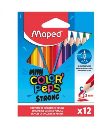 Ξυλομπογιές Maped 12χρ.Μικρες Mini Colors Peps