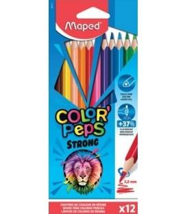 Ξυλομπογιές Maped 12χρ Strong Color Peps