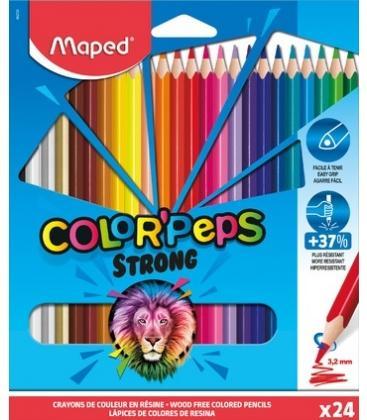 Ξυλομπογιές Maped Strong Color Peps Strong ΣΕΤ 24 ΧΡΩΜΑΤΑ