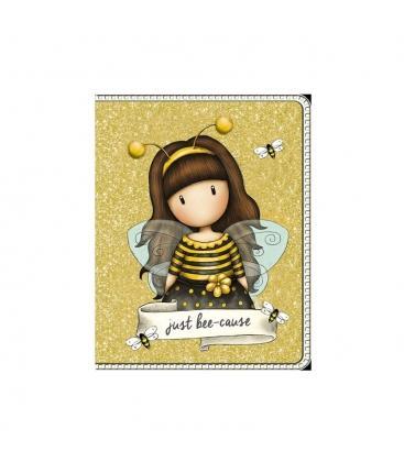 Σημειωματάριο Gorjuss SantoroΤσέπης Mini Glitter Just Bee Cause 843GJ04