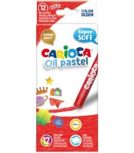 Λαδοπαστέλ Carioca oil-pastel 12τεμ. Super Soft