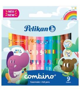 Μαρκαδόροι Pelikan 9χρ Combino