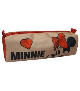 Κασετίνα βαρελάκι Gim Minnie Suede