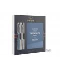 Στυλό PARKER Jotter Duo Ballpoint Pen 1 Stainless Steel 1 Royal Blue