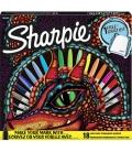 Μαρκαδόροι Σετ 18 Sharpie Fine Permanent 0.9mm Δώρο Θήκη