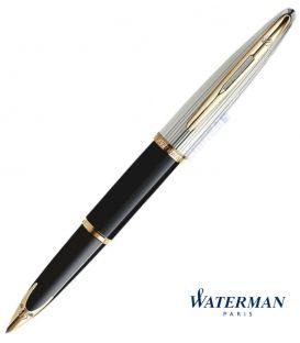 Πένα Waterman Carene Deluxe Black & Silver Fountain Pen GT