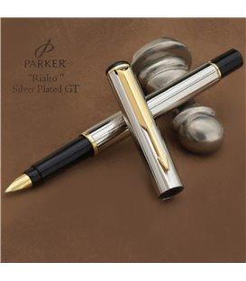 Πένα Parker Rialto Silver Plated Corinth & Gold Fine Pt