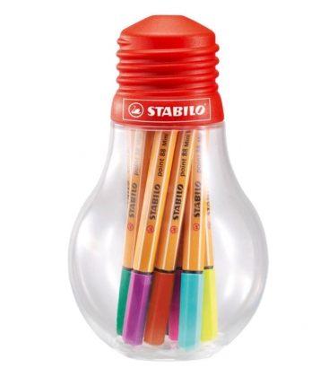 Μαρκαδοράκι Stabilo point 88 bulb mini/12τεμ.