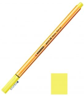 Μαρκαδοράκι 88/24 Stabilo Point 0.4 Neon Yellow