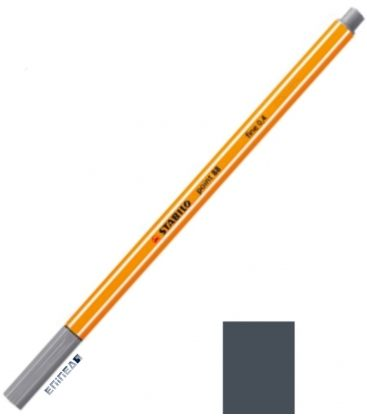 Μαρκαδοράκι 88/94 Stabilo Point 0.4 Light Grey